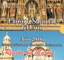 España 2016 Cartera Oficial Comunidades Murcia S/C