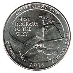 Estados Unidos (Parques) 2016 1/4 Dólar D (Cumberland Gap) S/C
