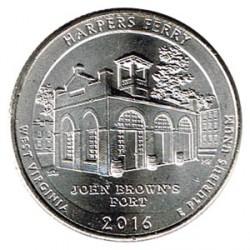 Estados Unidos (Parques) 2016 1/4 Dólar D (Harpers Ferry) S/C