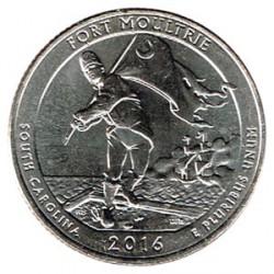 Estados Unidos (Parques) 2016 1/4 Dólar D (Fort Moultrie) S/C