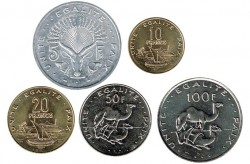Yibuti 1991 - 2013 5 valores (5,10,20,50 y 100 Francos) S/C