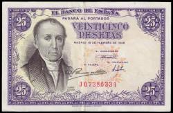 25 Pesetas 1946 A Florez Estrada EBC-