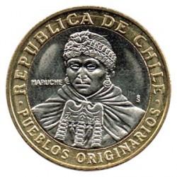 Chile 2006 100 Pesos Bimetálica. Mapuche S/C