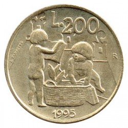 San Marino 1995 200 Liras. Igualdad de Oportunidades S/C
