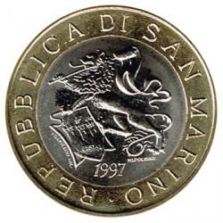 San Marino 1997 1.000 Liras. Bimetálica S/C