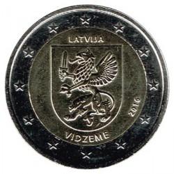 Letonia 2016 2 Euros Región de Vidzeme S/C