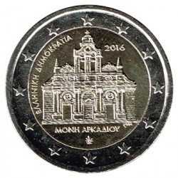Grecia 2016 2 Euros. Monasterio De Arkadi S/C