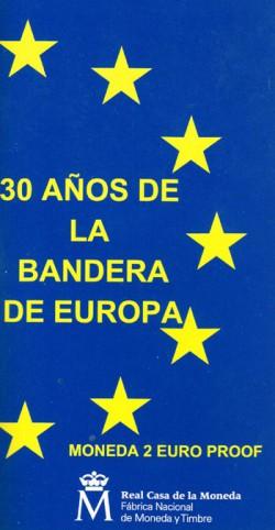 España 2015 2 Euros 30º Aniv. de La Bandera Europea PROOF