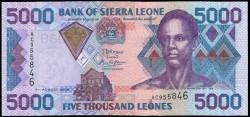 Sierra Leona 5.000 Leones PK 27c (4-8-2.006) S/C
