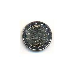 Finlandia 2007 2 Euros 90 Aniv. de la Independencia S/C