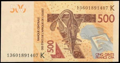 Senegal (Est. Afric. del Oeste) 500 Francos PK 719Kb (2.013) S/C