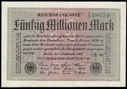 Alemania 50 Millones de Marcos PK 109c (1-9-1.923) S/C-