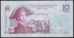 Haiti 10 Gourdes PK 272e (2.004) S/C