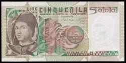 Italia 5.000 Liras PK 105b (1-07-1.980) EBC