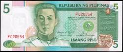 Filipinas 5 Piso PK 168d (1.985-94) S/C