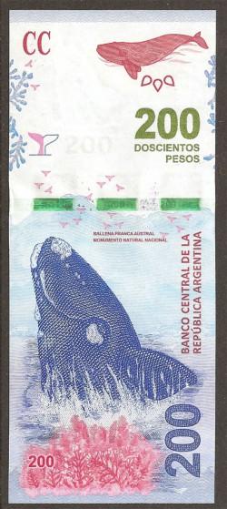 Argentina 200 Pesos PK Nuevo (2.016) S/C