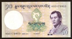 Bután 10 Ngultrum PK 29 (2.006) S/C