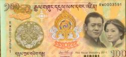 Bután 100 Ngultrum PK 35 (2.011) Boda S/C