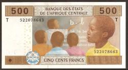 Congo (Est. Afric. Centrales) 500 Francos PK 106 T (2.002) S/C
