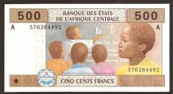 Gabón (Est. Afr. Centr.) 500 Francos PK 406 A (Nueva Firma) (2.002) S/C