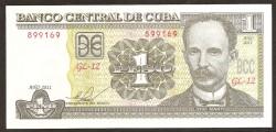 Cuba 1 Peso PK 121k (2.011) S/C