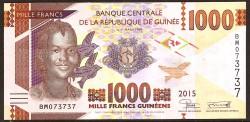 Guinea 1.000 Francos PK Nuevo (2.015) S/C
