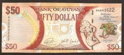 Guyana 50 Dólares PK Nuevo (2.016) S/C
