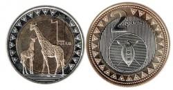 Sudán del Sur 2015 2 valores (1 y 2 Libras) S/C