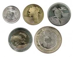 Colombia 2016 5 valores (50,100,200,500 y 1.000 Pesos) S/C