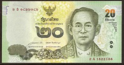 Tailandia 20 Baht Pk Nuevo (124) (2.013) S/C