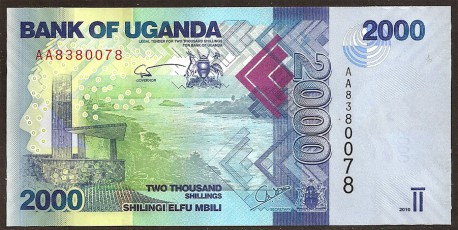 Uganda 2.000 Shillings PK 50a (2.010) S/C