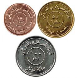 Irak 2004 3 valores (10, 25 y 100 Dinares) S/C
