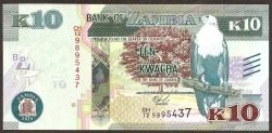 Zambia 10 Kwacha PK 58 (2.015) S/C