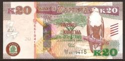Zambia 20 Kwacha PK 59 (2.015) S/C