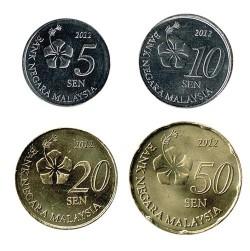 Malasia 2012 4 valores (5, 10, 20 y 50 Sen) S/C