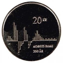 Noruega 2016 20 Coronas (200 años del Banco de Noruega) S/C