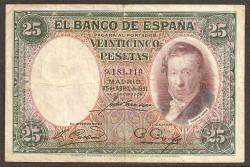 25 Pesetas 1931 Vicente López BC+