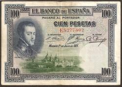 100 Pesetas 1925 Felipe II MBC-