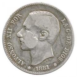 1 Pta Alfonso XII Sin fecha en la estrella 1881 * BC+
