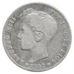 1 Pta Alfonso XIII Sin fecha en la estrella 1902 * MBC-