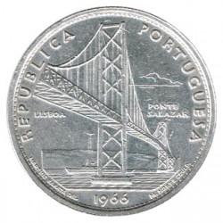 Portugal 20 escudos de plata 1966 Puente de Salazar S/C-