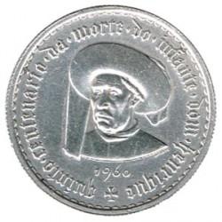 Portugal 5 escudos de plata 1960 Infante Henrique S/C