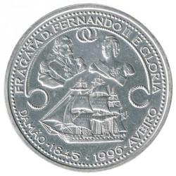 Portugal 1.000 Escudos de Plata 1996 Fragata D. Fernando II y Gloria S/C-