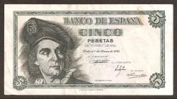 5 Ptas 1948 Juan Sebastián de Elcano BC