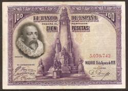 100Ptas 1928 Cervantes MBC