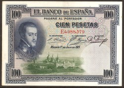 100 Pesetas 1925 Felipe II MBC+