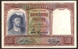 500 Pesetas 1931 Juan Sebastián Elcano EBC