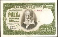 1000 Pesetas 1951 Joaquín Sorolla MBC+ Sin Serie