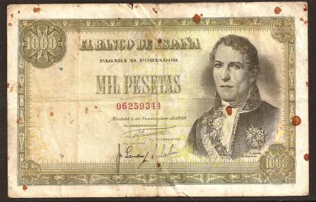 1000 Pesetas 1949 Ramón de Santillán BC+