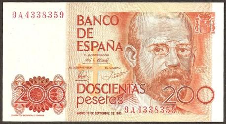 200 Pesetas 1980 Leopoldo A. Clarín EBC Serie 9A
